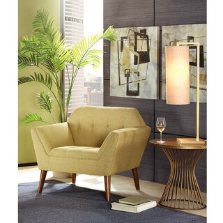 INK+IVY Newport Lime/ Pecan Chair Lounger