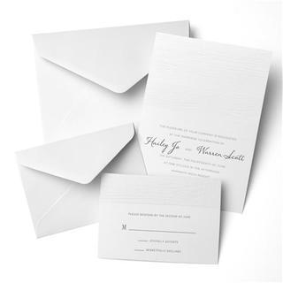 Woodgrain Embossed Invitation Kit (Case of 50)