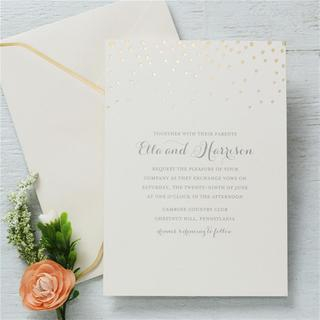 Gold Foil Dots Invitations (25-count)