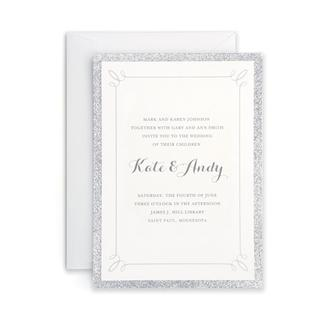 Silver Glitter Invitations (Case of 25)
