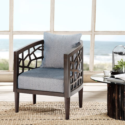 Carson Carrington Lihula Blue Lounge Accent Chair (As Is Item)
