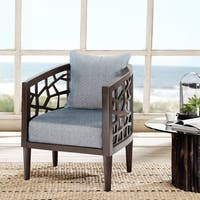 INK+IVY Crackle Blue Lounge Accent Chair