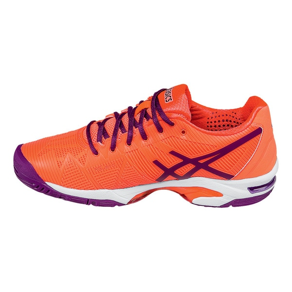 Asics Gel Solution Speed 3 Women's Orange Synthetic Leather Tennis Shoes