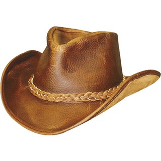 Henschel Walker U-Shape-It Brown Leather Cowboy Hat