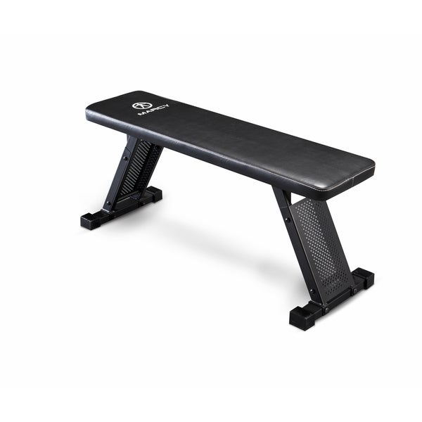 Marcy Black Steel Flat Bench
