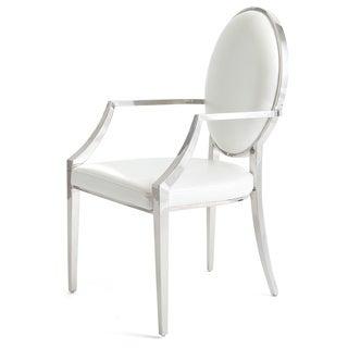 Hip Vintage Murrieta White Stainless Steel Dining Chair