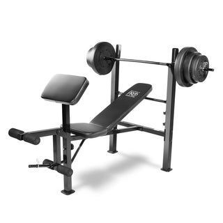 Marcy Black Metal Weight Set and Standard Bench