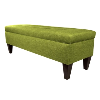 MJL Furniture 'Brooke 10' Solid-colored Fabric/Wood Button-tufted Long Storage Bench