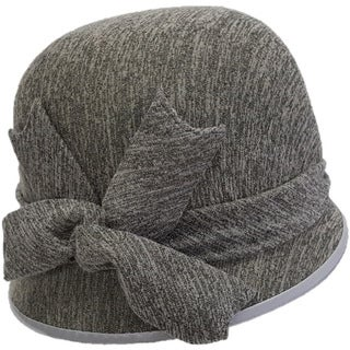 Swan Hat All Year Around Charcoal Boucle Jersey Adjustable Covered Hat