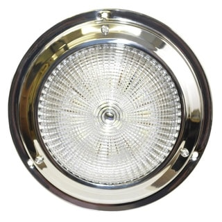 SeaSense White Stainless-steel 5.5-inch Dome 18 LED Light