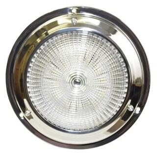 SeaSense White Stainless-steel 5.5-inch Dome 18 LED Light