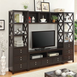 Coaster Company Cappuccino Entertainment Bridge Unit Cubby Add-On