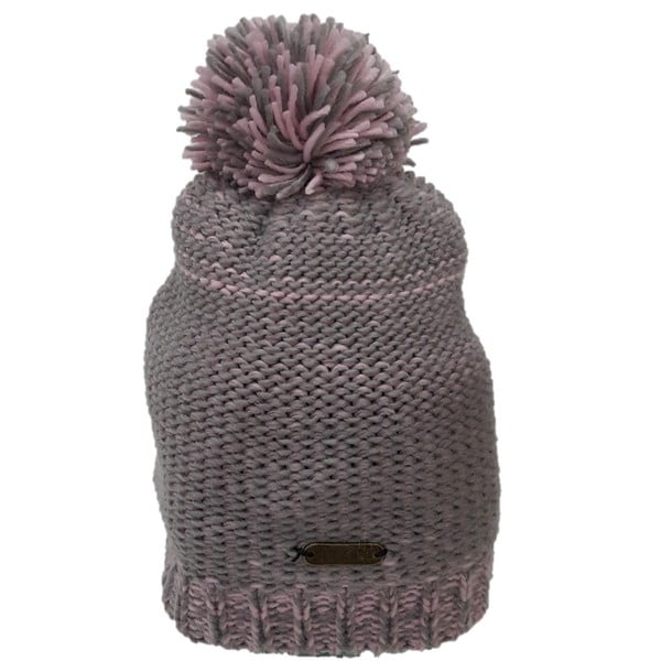 Hatch Cotton Candy Pink and Grey Knit Pom-pom Beanie