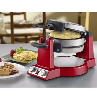 Waring WMR300 Belgian Waffle and Omelet Maker - Red (Refurbished)