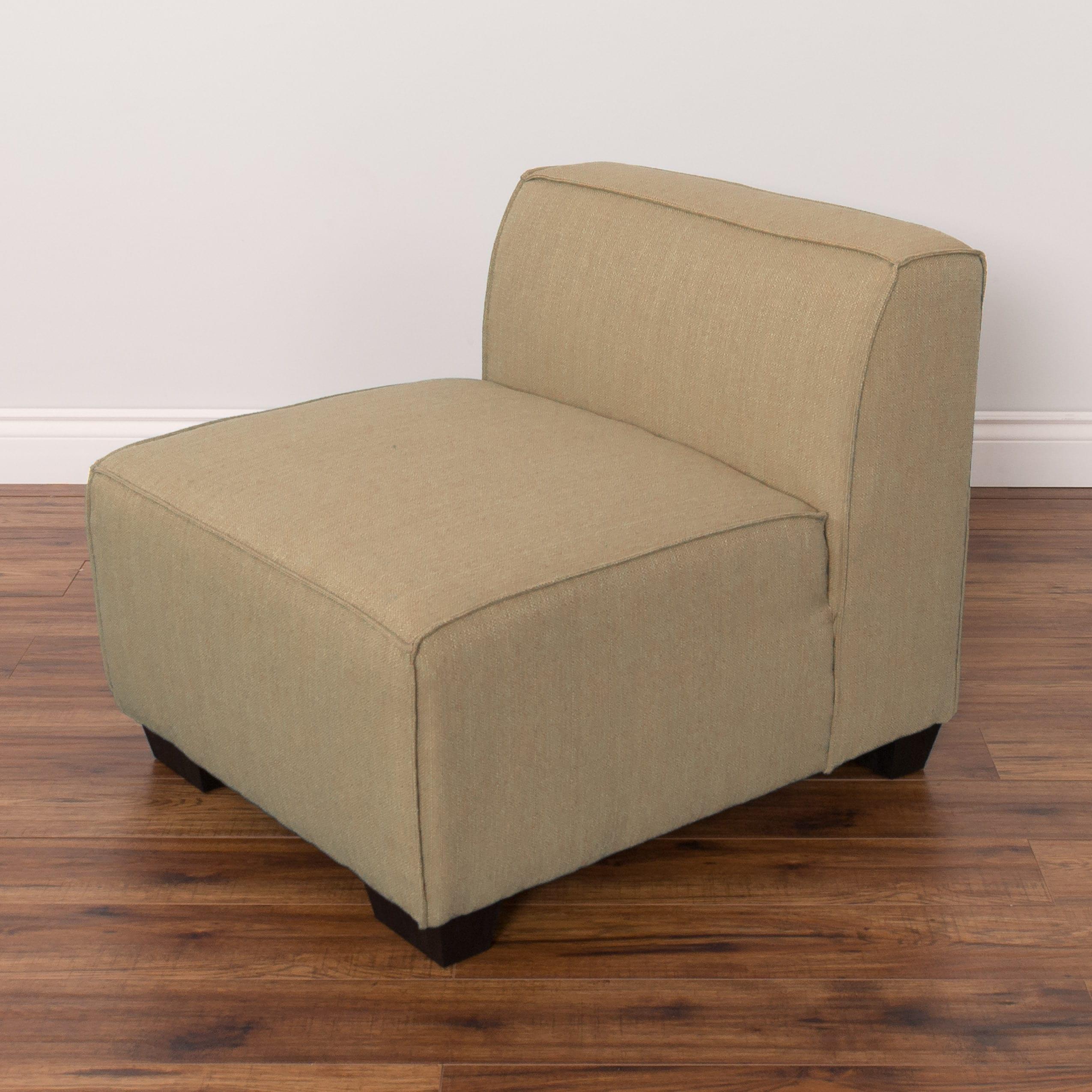 CorLiving Lida Upholstered Solid Wood Middle Sectional Se...