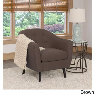 CorLiving Oliver Fabric Retro Inspired Barrel Chair (Option: Brown)