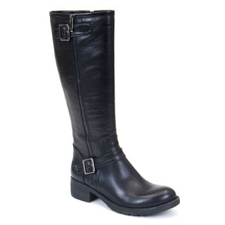 Gc Shoes Women's Jessie Black Faux Leather Knee High Boot