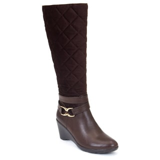 Gc Shoes Women's Emily Brown Faux Leather Boots