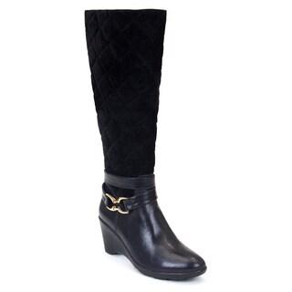 Gc Shoes Women's Emily Black Faux Leather Boot