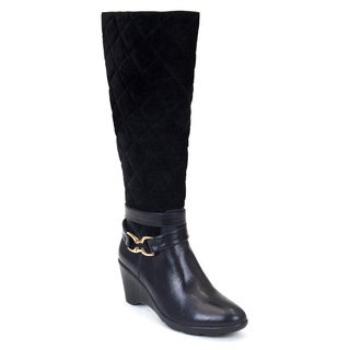 Gc Shoes Women's Emily Black Faux Leather Boot
