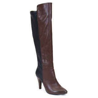 Gc Shoes Women's 'Chloe' Brown Faux-leather Knee-high Boot