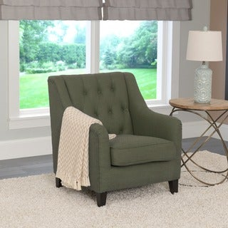 CorLiving Dana Linen Upholstered Diamond-tufted Accent Chair