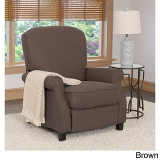 CorLiving Noah Linen Fabric Recliner Armchair (Option: Brown)