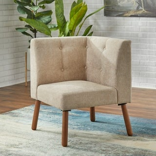 Corner living room furniture Small Simple Living Wood Fabric Playmate Corner Chair Style Motivation Buy Corner Chair Living Room Chairs Online At Overstockcom Our