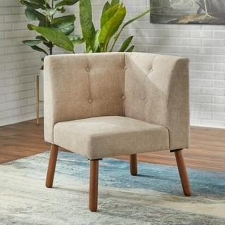 Simple Living Wood Fabric Playmate Corner Chair