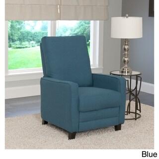 CorLiving Kelsey Linen Fabric Modern Recliner Armchair