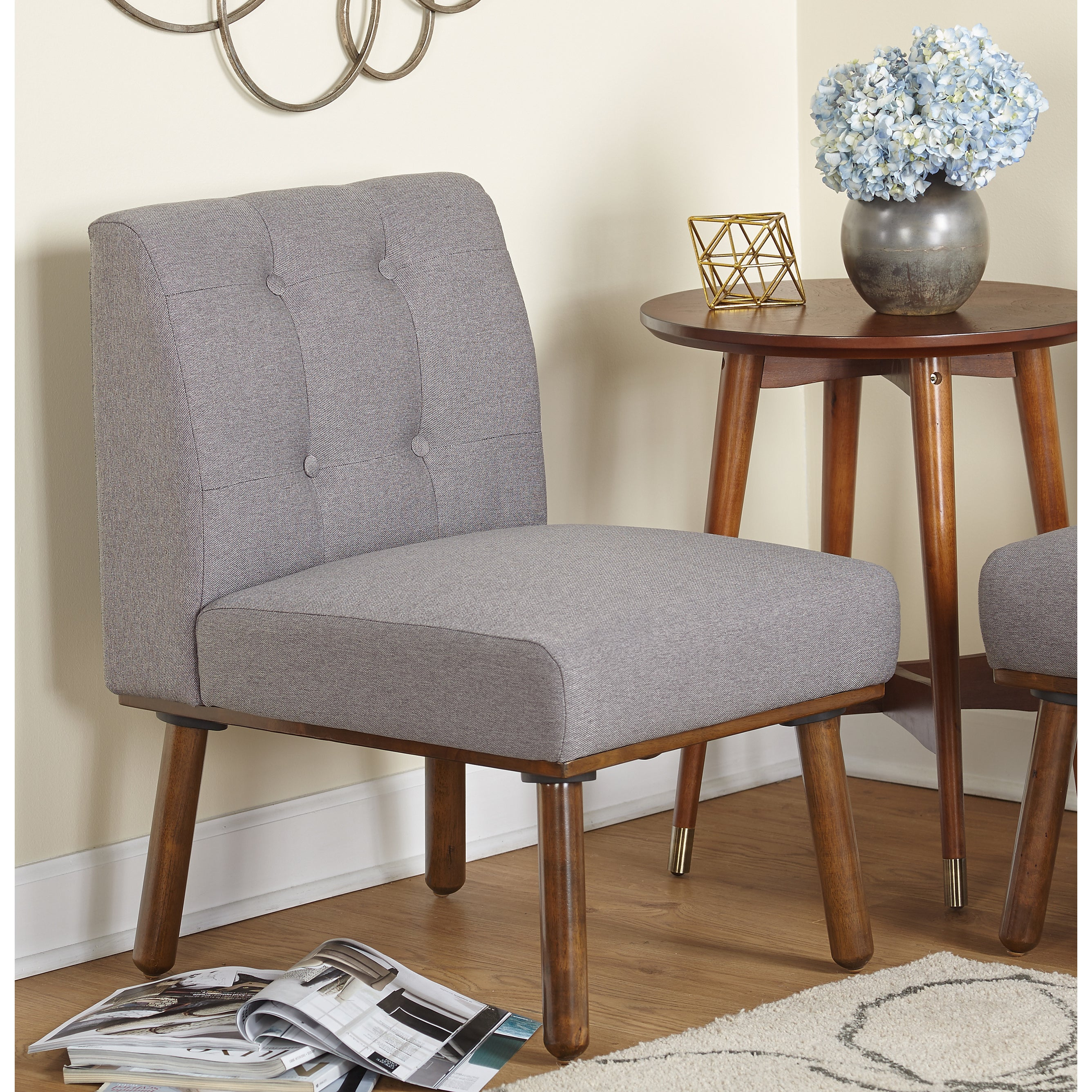 Simple Living Playmate Armless Accent Chair   N/A (2 Options Available)