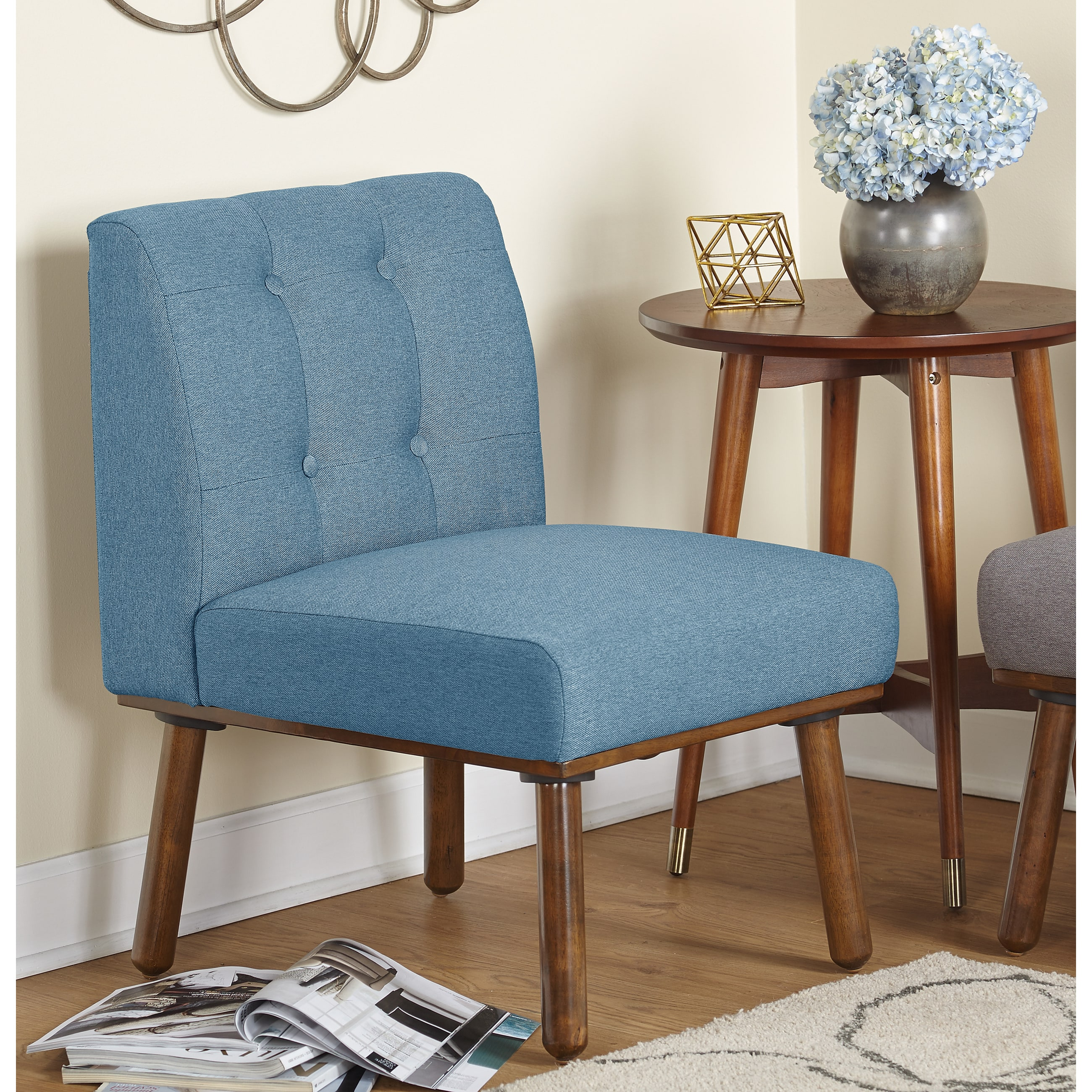 Simple Living Playmate Armless Accent Chair - Free Shipping Today ...