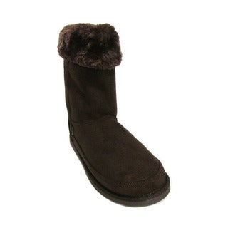 Northside Women's Sarina Dark Brown Suede and Rubber Mid-calf Boots