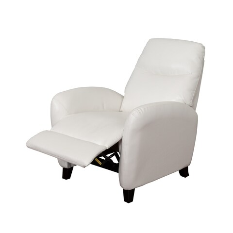 CorLiving Ava Bonded Leather Reclining Armchair