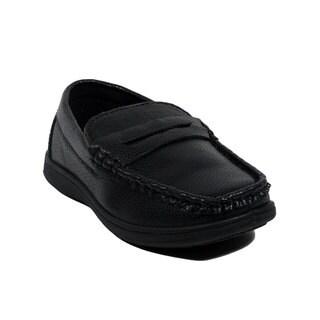 Blue Boys B-JAQAR Synthetic Slip-on Loafers (Option: 13)