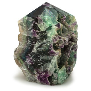 Healing Stones for You Natural Fluorite Stone with polished top