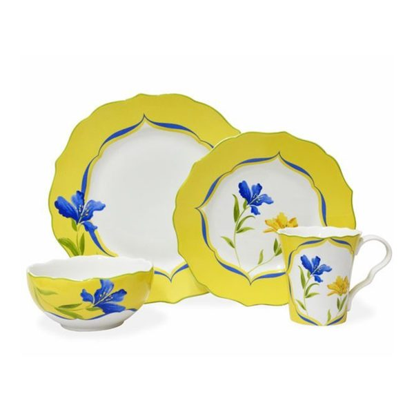 222 Fifth French Garden 16-piece Yellow and White Porcelain Dinnerware Set (Service for  sc 1 st  Overstock.com & 222 Fifth French Garden 16-piece Yellow and White Porcelain ...