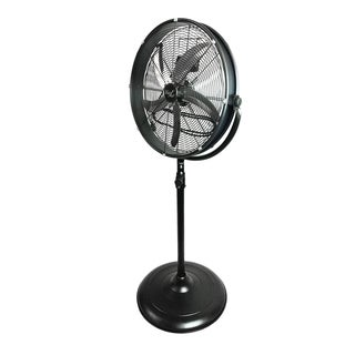 Vie AirBlack Metal 20-inch Industrial 3 Speed Tilting Pedistal Fan