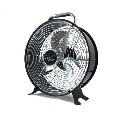 Vie Air Metal 12-inch High-velocity Dual-speed Retro Drum Fan