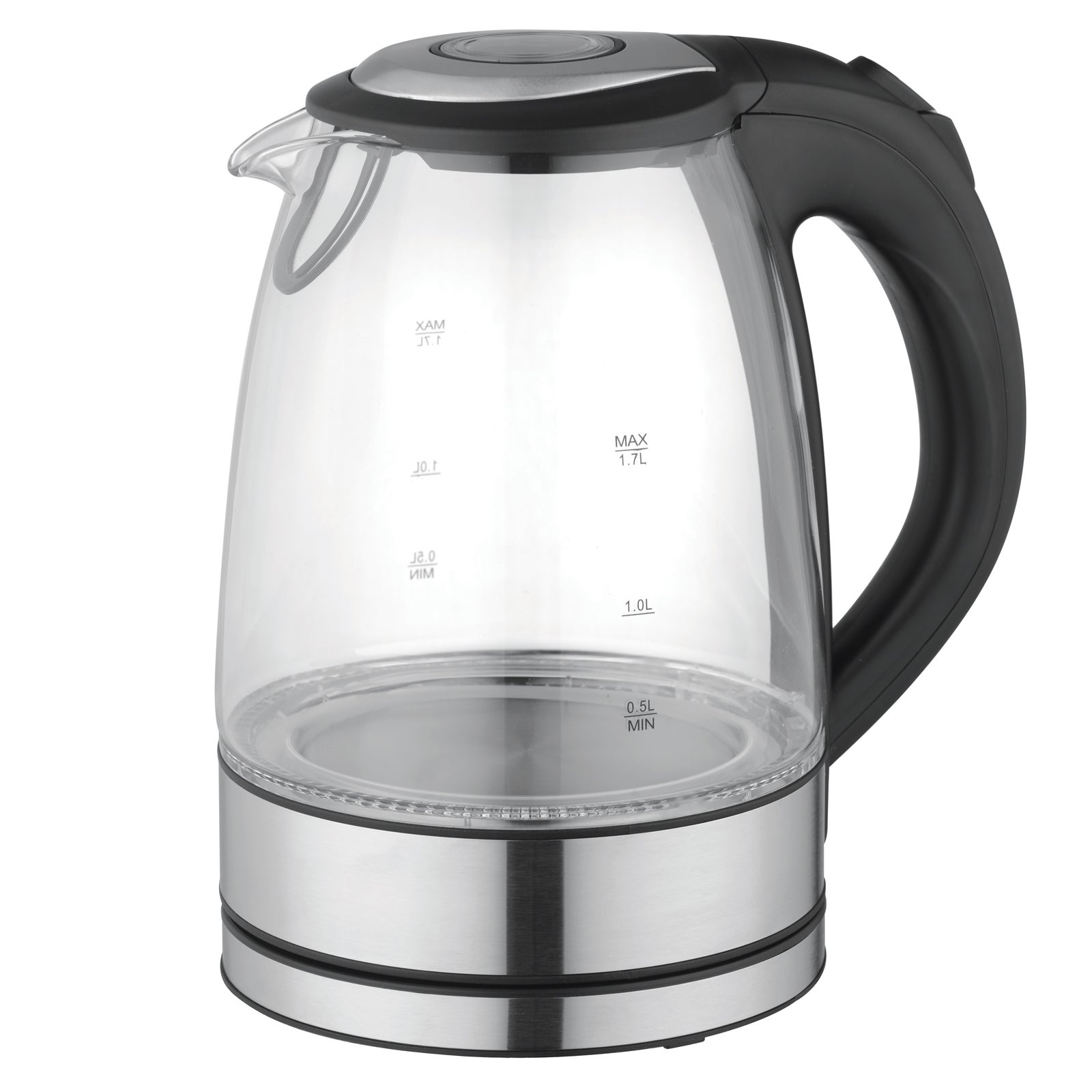 Mega Chef 1.7-liter Glass and Stainless Steel Electric Te...
