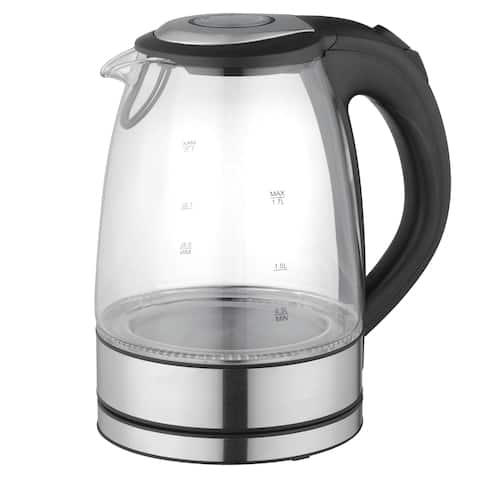 Mega Chef 1.7-liter Glass and Stainless Steel Electric Tea Kettle