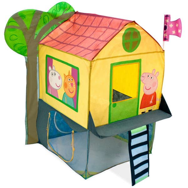 info for b48e0 3a922 Playhut Peppa Pig Tree House - 40 x 61 x 48