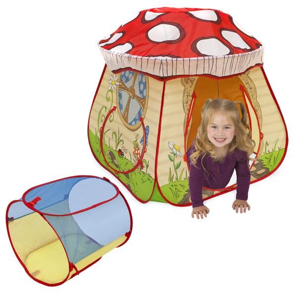Playhut Play Village Mushroom House With EZ Twist Tunnel