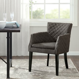 Madison Park Nicole Charcoal Quilted Dining Chair