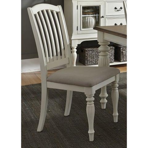 Maison Rouge Abernathy Slat Back White Dining Chair