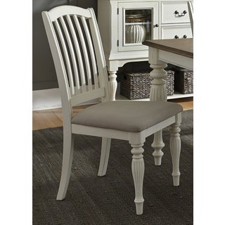 Cumberland Creek Slat Back White Dining Chair