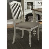 The Gray Barn Arctic Arrow Slat Back White Dining Chair