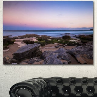 Designart 'Maroubra Beach at Sunset Panorama' Modern Seashore Canvas Art