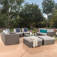 Christopher Knight Home Santa Rosa 9-piece Outdoor Sofa Sectional ...