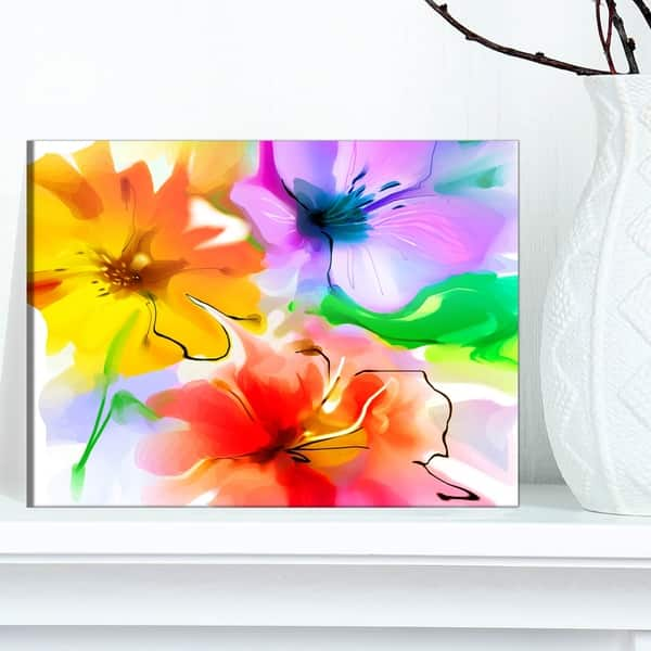 ABSTRACT FLAKES FLOWER CANVAS MODERN VIEW WALL ART PICTURE LARGE AZ554 MATAGA